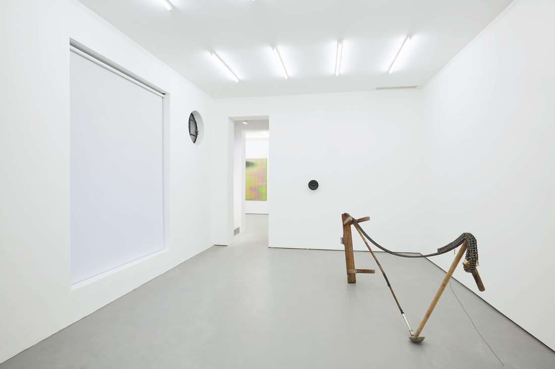 Installation view of works by Devin Farrand, James Webb, and Liu Yazhou at Gallery Vacancy.